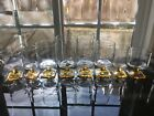 FEDERAL GLASS Nordic Topaz Yellow  Tea  Water  Wine Goblet Set of 8
