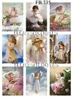 Vintage Sweet Little Angels 9 Prints on Fabric Quilting Sewing Crafting FB 735