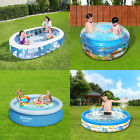 Inflatable Swimming Pool Center Lounge Family Kids Water Play Fun Backyard New