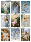 Vintage Sweet Little Angels 9 Prints on Fabric Quilting Sewing Crafting FB 861