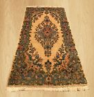 Authentic Hand Knotted Vintage Persian Kirman Wool Area Rug 4 x 2 FT (6263)
