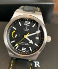 Tudor Men's North Flag 40mm Black Leather Band Automatic Watch M91210N-0002