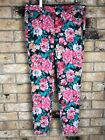 Tinsel Town Womens Floral Jeans Size 9 Tapered Skinny Leg Vintage Looking