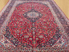 Large Hand Knotted Vintage Persian Kashaan Wool Area Rug 13 x 10 Ft