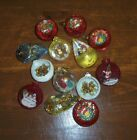13 Vintage Diorama Christmas Ornaments Plastic Jewelbrite Santa Nativity Bells