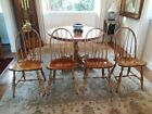 Stone Set of 4 Vintage Windsor Dining Chairs. LOCAL PICKUP ONLY