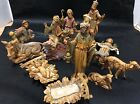 Vintage FONTANINI ITALY Nativity Figurines 5 Scale and Under 15 Pieces