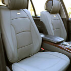 Leatherette Seat Cushion Cover Front Bucket For Auto Car SUV Van Solid Gray