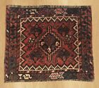 Authentic Hand Knotted Vintage Persian Sheraz Wool Area Rug 3 x 2 FT (6043)