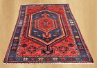 Authentic Hand Knotted Vintage Persian Hamadan Wool Area Rug 7 x 4 FT (6856)