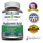 HYALURONIC ACID 120 Capsules 100 mg Support Health Connective Tissue Joints Skin