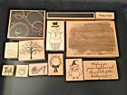 Lot of wood mounted rubber ink stamps you choose All new or lightly used