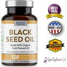 BLACK SEED OIL CAPSULES 120 Organic Cold Pressed Black Cumin Max Strength 1000mg