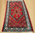 Authentic  Hand Knotted Vintage Morocco Wool Area Rug 4 x 2 Ft (4266)