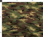 Camo Glitter Woodland Camouflage Military Army Fabric Printed By Spoonflower Bty