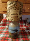 Antique Jug Lamp Painted with an Old Train and Scenery (Vintage Trains Shade)