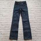 Vintage Levis 517 Boot Cut Raw Denim Jeans Size 26 Made in USA