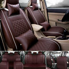 Us Pu Leather Car Seat Cover Protector Cushion Full Set 5-seats Universal Deluxe