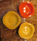 Lovely Vintage Homer Laughlin Riviera Fruit Bowl Set of 3 - in 3 Bright Colors!