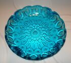 Colonial Blue Moon and Stars Glass Ashtray