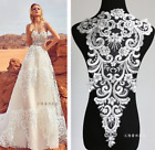 1 X Back Embroidered Lace Trim Applique Bodice Diy Sew On Wedding Dress Motif