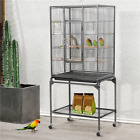 54 Rolling Bird Cage for Parrots Cockatiels Parakeets Conures Lovebirds Budgie