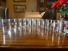 Rare NIB Complete 12 Piece Vintage Anchor Hocking Zodiac Glass Set.
