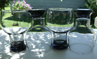 Federal Glass Home Entertainment Smoke Beer Glass set of 4 Mid Century Modern