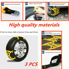 3PCS Car Snow Tire Anti skid Chains better antiskid effect for snow and mud