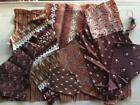 ~Back In Time Textiles~Antique RARE 1830-60 Very early calico fabric 10 pcs