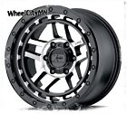 18 x85 black machine XD140 Recon KMC rims fits Nissan Titan Armada 6x55 +18