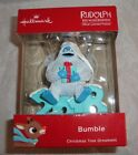Bumble Sitting On 2018 Rudolph The Red Nosed Reindeer Hallmark Ornament New