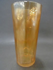 Jeanette Glass Marigold Hex Optic Pattern Honeycomb Tumblers - Lot Of 3
