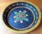 Paper Mache Fruit Bowl Hand-Painted Antique French Country Shabby Vintage