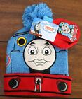 Thomas And Friends Kid's Cuffed Pom Beanie Hat and  Mitten Gloves Set 2 Pc 1Size
