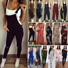 Womens Clubwear Dungarees Playsuit Bodycon Party Jumpsuit Romper Trousers Pants