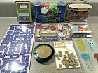 Mixed Lot of Coordinating Scrapbook Supplies Stickers Paper Flowers Tags Letters