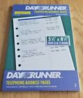 Day Runner Undated Planner Telephone  Address Refill 55 x 85 011 230 30 Pgs