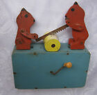 Antique primitive Wooden Mechanical Child's Toy ... w/ animals, bears, wood