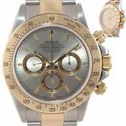 RARE A Serial Rolex Daytona 16523 Zenith Slate Dial Gold Steel SEL Band Watch B9