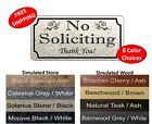 Rectangular No Soliciting Sign NO SOLICITING Thank You Sign FREE SHIPPING