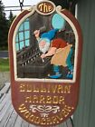 Vintage Hand Carved Sign Unique One of a Kind Double Sided Sullivan Maine
