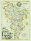 DERBYSHIRE 1786. Kitchin / Boswell. Genuine Antique Map expertly hand coloured