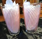 """ Tall Tumbler Glasses 50's 60's"
