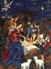 Christmas Nativity Fabric Panel 45 x 34 VIP Cranston Vintage 2004 Print Works