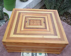 Vintage Handmade Box Inlay Marquetry Storage Cash Desk Document Jewelry Puzzle