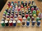 LOT OF 92 Spools Embroidery Machine Thread Various colors Many are unused