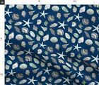 Shell Shells Seashell Beach Nautical Maritime Fabric Printed By Spoonflower Bty