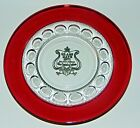 Vintage 1971 Indiana Glass Days Souvenir Ruby Flashed Kings Crown 8 1/4 in Plate
