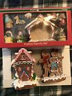 New Merry Brite Gingerbread 9 Piece Nativity Set Light Up Cottage And Family